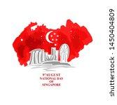august 9  singapore national... | Shutterstock .eps vector #1450404809