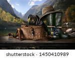 fishing background. fishing... | Shutterstock . vector #1450410989