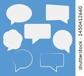 speech bubbles isolated vector... | Shutterstock .eps vector #1450412660