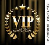 golden laurel wreath and vip... | Shutterstock . vector #1450417463