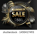 advertising banner with gold... | Shutterstock . vector #1450417493