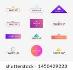 swipe up icon set for social... | Shutterstock .eps vector #1450429223