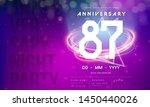 87 years anniversary logo...   Shutterstock .eps vector #1450440026