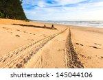 Tracks On The Golden Sand...