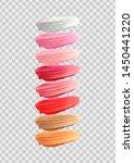 lip gloss template  set of lip... | Shutterstock .eps vector #1450441220
