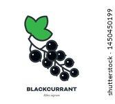blackcurrant berry fruit icon ... | Shutterstock .eps vector #1450450199