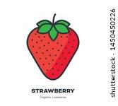 strawberry fruit icon  outline... | Shutterstock .eps vector #1450450226