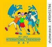 international friendship day ...   Shutterstock .eps vector #1450451786