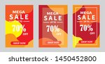set discount banners promotion...   Shutterstock .eps vector #1450452800