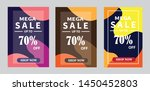 set discount banners promotion... | Shutterstock .eps vector #1450452803