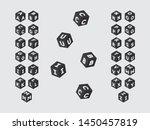 cubic font. vector alphabet... | Shutterstock .eps vector #1450457819