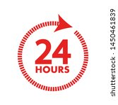 24 hours clock sign icon in... | Shutterstock .eps vector #1450461839