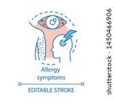 allergy symptoms concept icon....   Shutterstock .eps vector #1450466906