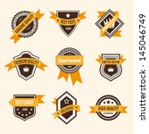 collection of vintage labels.... | Shutterstock .eps vector #145046749