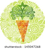 carrot pattern vector... | Shutterstock .eps vector #145047268