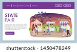 state fair landing page vector...   Shutterstock .eps vector #1450478249