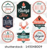 Camping Vector badges and labels in Vintage style