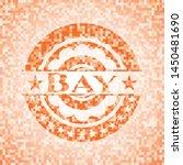 bay orange mosaic emblem.... | Shutterstock .eps vector #1450481690