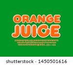 vector bright logo orange juice ...   Shutterstock .eps vector #1450501616