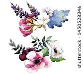 bouquet floral botanical... | Shutterstock . vector #1450528346