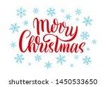 vector typography poster merry... | Shutterstock .eps vector #1450533650