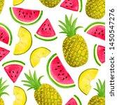 seamless watercolor pattern... | Shutterstock . vector #1450547276