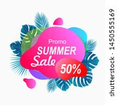 summer sale discount full color ... | Shutterstock .eps vector #1450555169