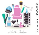 hairdresser equipment tools.... | Shutterstock .eps vector #1450560836