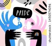 gay pride lgbt rainbow concept. ...   Shutterstock .eps vector #1450574096