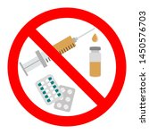 sign forbidden drug in the red... | Shutterstock .eps vector #1450576703