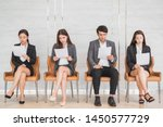 young asian business people... | Shutterstock . vector #1450577729