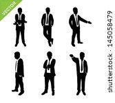 business man silhouettes vector   Shutterstock .eps vector #145058479