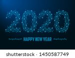 2020 new year illustration made ... | Shutterstock .eps vector #1450587749