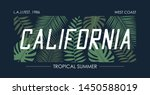 california slogan t shirt with... | Shutterstock .eps vector #1450588019