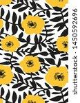 flower pattern illustartion art ... | Shutterstock .eps vector #1450592696