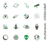 space simple vector icons in... | Shutterstock .eps vector #1450611869