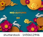 chinese mid autumn festival... | Shutterstock .eps vector #1450612946