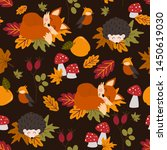 autumn seamless pattern with... | Shutterstock .eps vector #1450619030