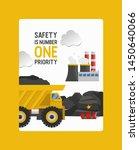 coal mining  work in the coal... | Shutterstock .eps vector #1450640066
