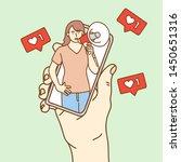 influencer marketing concept ... | Shutterstock .eps vector #1450651316