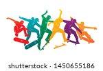 skate people silhouettes... | Shutterstock .eps vector #1450655186