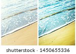 surf in sandy sea beach | Shutterstock . vector #1450655336