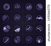 radiant graph icons on dark... | Shutterstock .eps vector #145066570