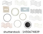 blank postal stamps set... | Shutterstock .eps vector #1450674839