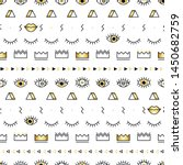 memphis pattern with... | Shutterstock .eps vector #1450682759
