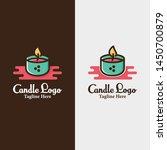 candle candles logo design... | Shutterstock .eps vector #1450700879