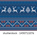 christmas knit geometric... | Shutterstock .eps vector #1450711076