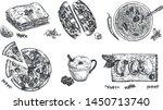 italian cuisine delicious... | Shutterstock .eps vector #1450713740