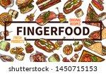 finger food web banner hand... | Shutterstock .eps vector #1450715153