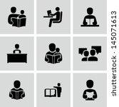 reading book | Shutterstock .eps vector #145071613